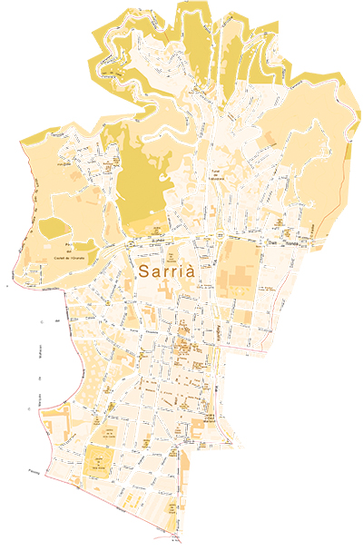 Mapa Sarrià